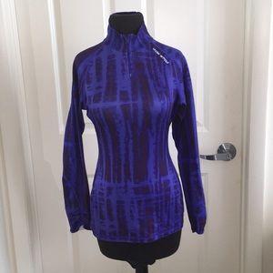 Under armour purple U A long sleeve zip top